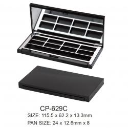 Empty Plastic Square Compact Case