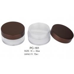 Plastic Round Cosmetic Loose Powder Container