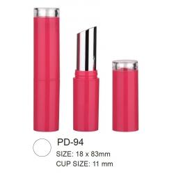Empty Plastic Round Lipstick Container