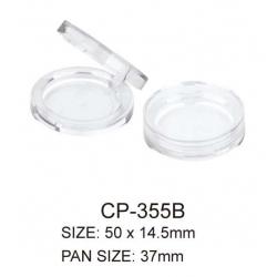 Round Cosmetic Compact Powder Container