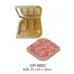 Beautiful Compact Case Empty Plastic Cosmetic Container