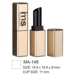 Aluminium Square Cosmetic Lipstick Case