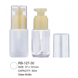 Luxury Cosmetic Loose Powder Container  Glass Bottle