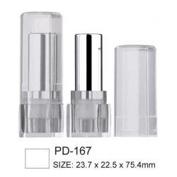 White Round Plastic Lipstick Case
