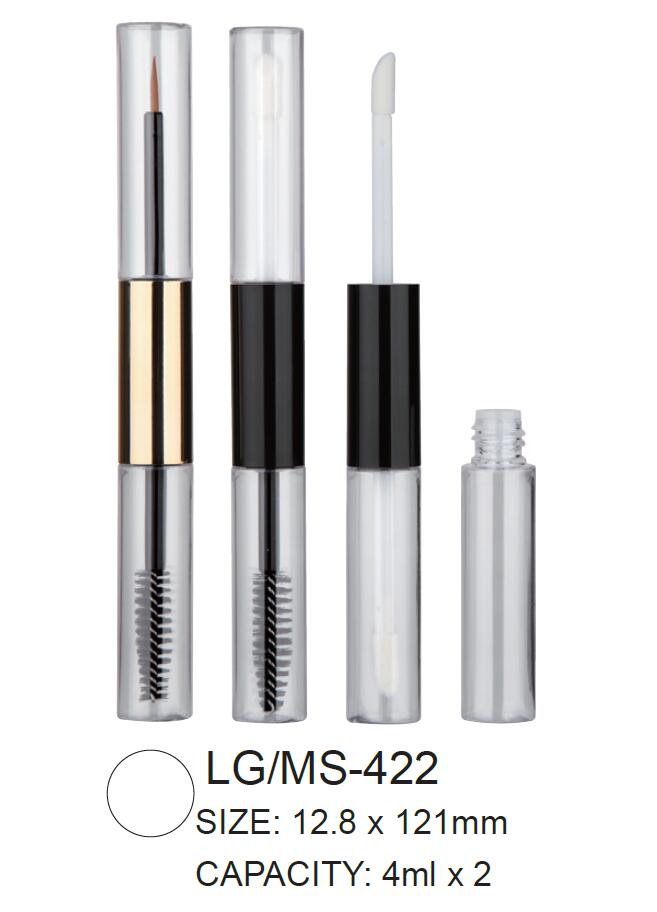 Dual Head Plastic Round Cosmetic Lipgloss/Mascara Container