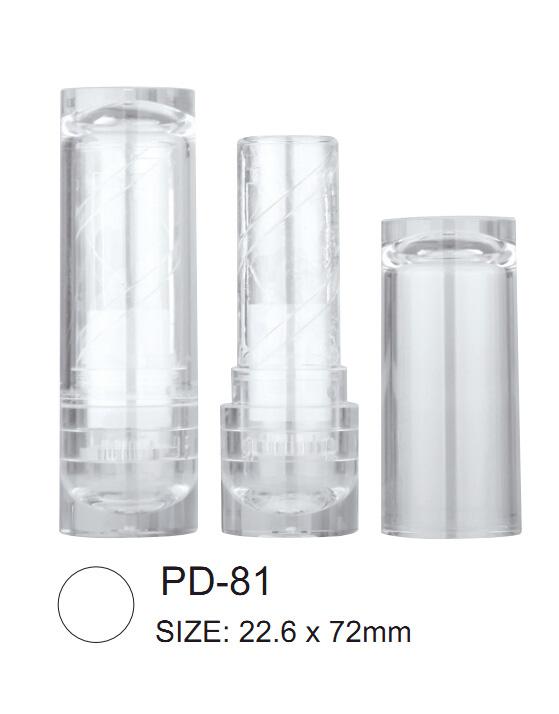 Round Transparent lipstick tube
