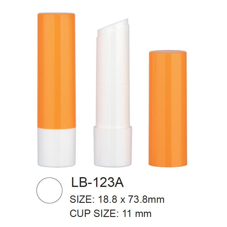 Empty Plastic Round Cosmetic Lip Balm