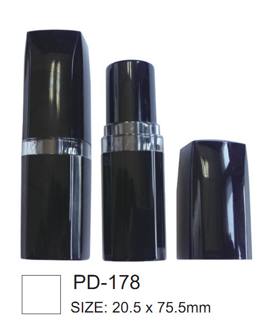 Square Shape Black Lipstick Container