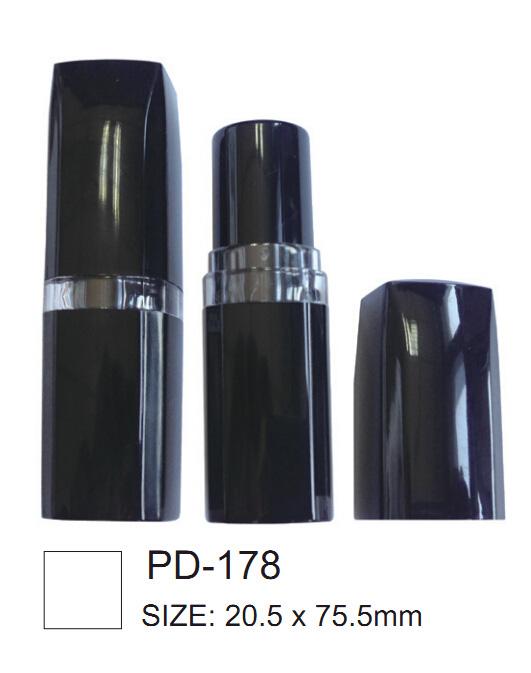 Square Shape Black Lipstick Container