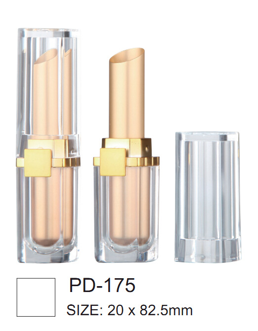 Transparent lipstick container