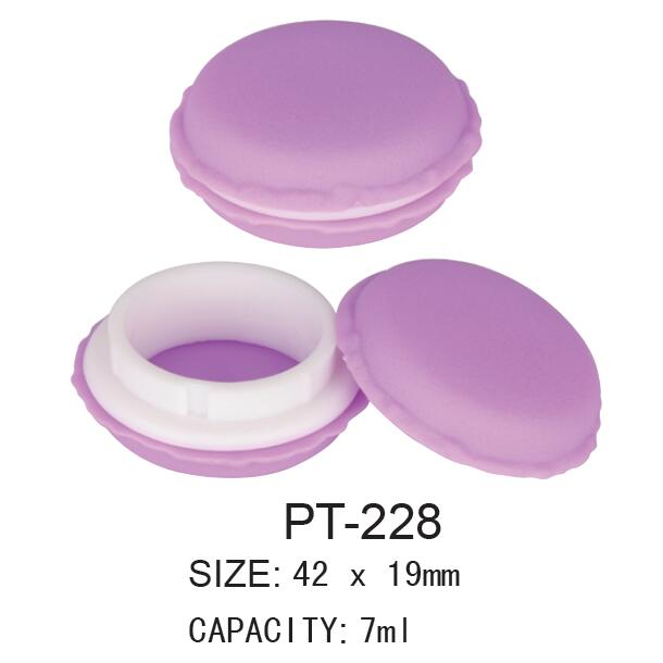 Plastic Cosmetic Round Pot