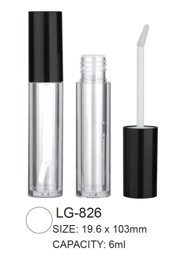 Plastic Cosmetic Round Lipgloss Container