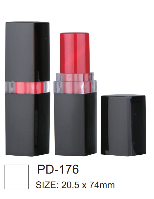 Square Shape Black Lip Balm Tubes