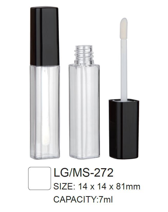 Plastic Cosmetic Square Lipgloss/Mascara Container