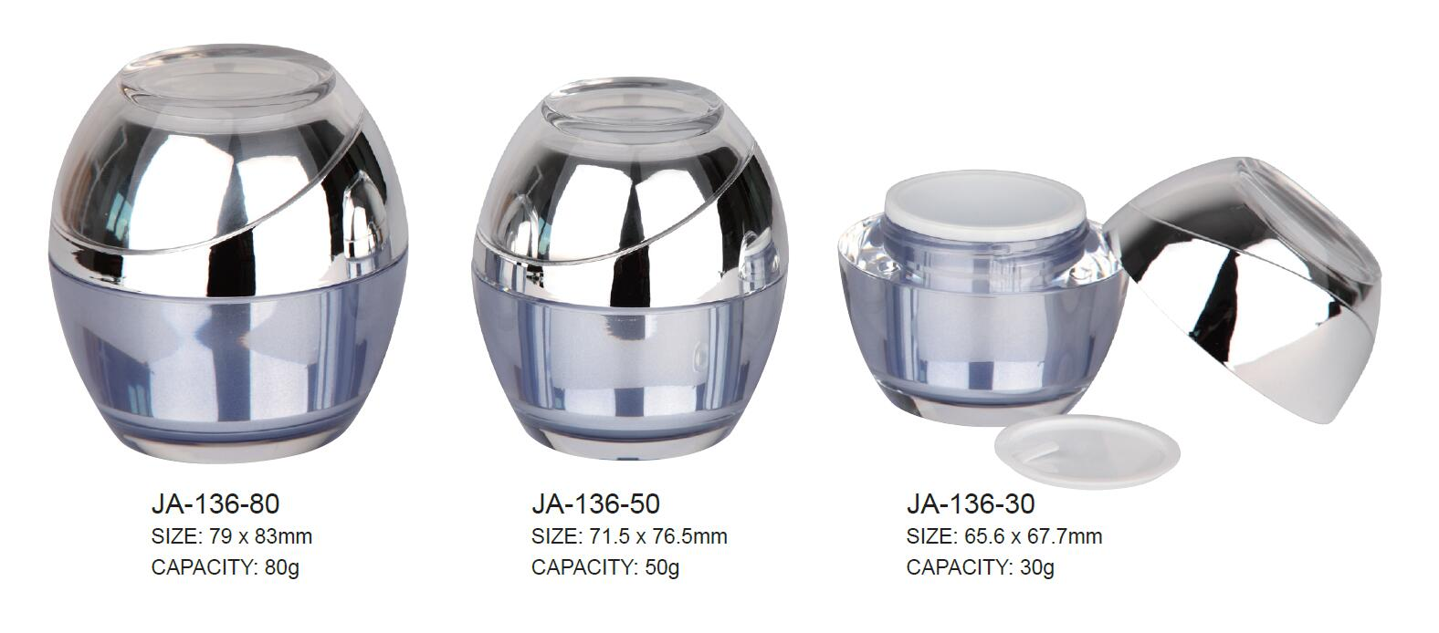 Plastic Cosmetic Arylic Jar Container