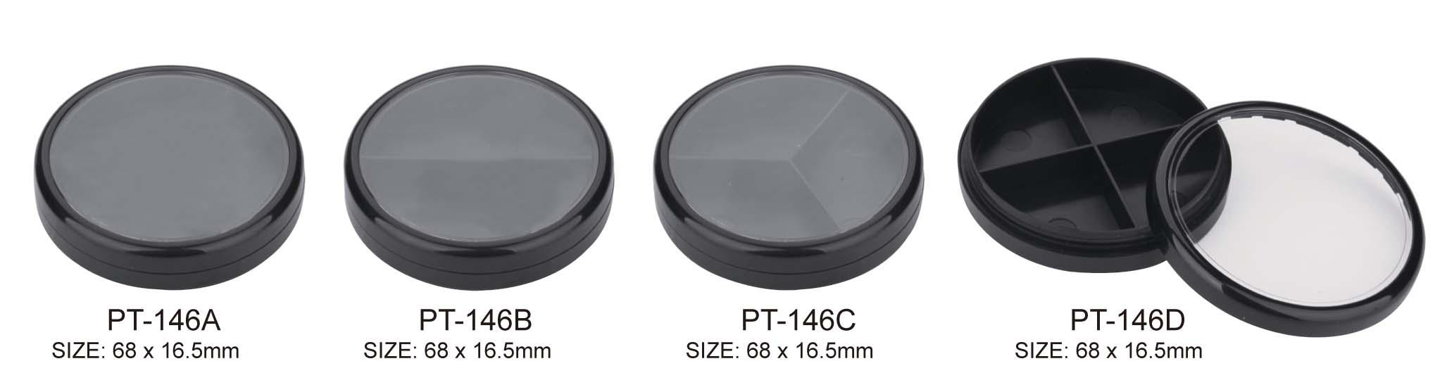 Plastic Round Cosmetic Compact