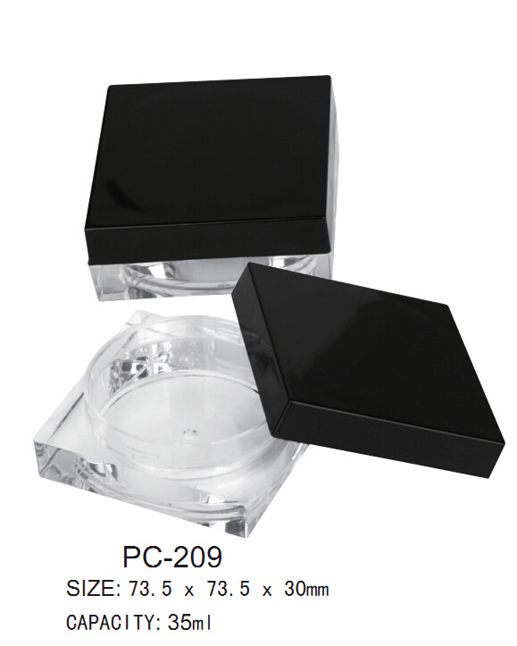 Plastic Loose Powder Jar with Sifter for Cosmetic Packaging
