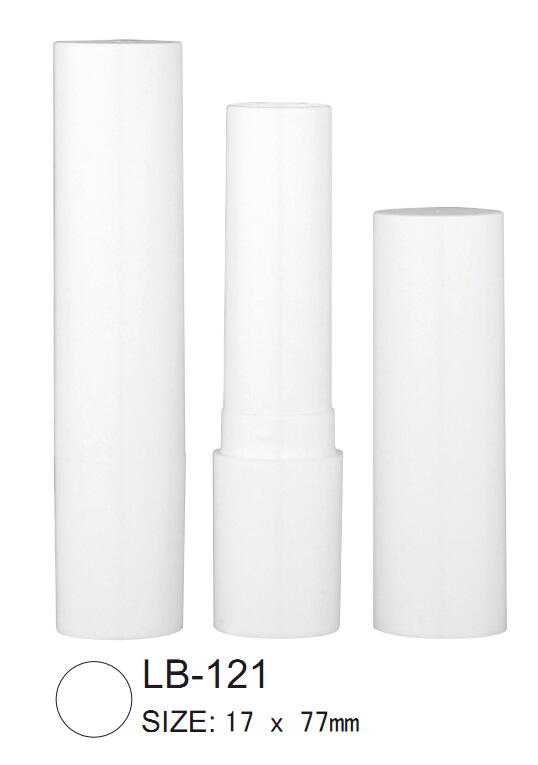 White Lip Balm Tubes and Caps