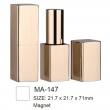 Aluminium Square Magnet Cosmetic Lipstick Case