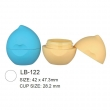 Plastic Cosmetic Lip Balm Contaienr