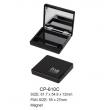 Empty Plastic Magnet Square Compact Case