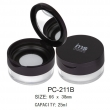 Plastic Cosmetic Round Loose Powder Container